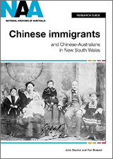Cover of 'Chinese Immigrants and Chinese-Australians in New South Wales' research guide.